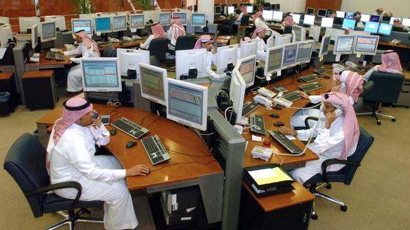 سوق الاسهم السعودية يسجل مكاسب بـ 62 نقطة
