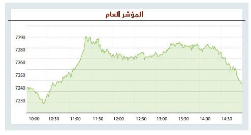 الأسهم السعودية تمحو معظم مكاسبها بضغوط البيع .. والسيولة ترتفع 31 %