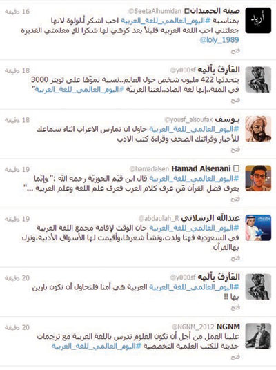 مغر دون في تويتر يحتفون باللغة العربية في يومها العالمي صحيفة
