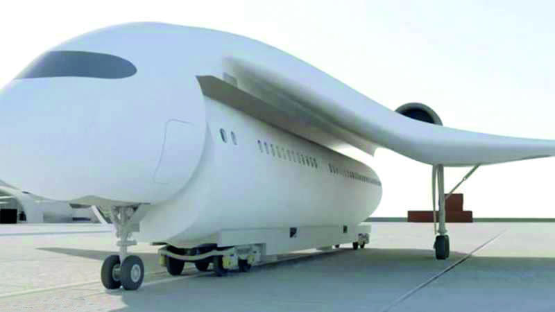 شركة تطرح تصميما أوليا لقطار طائر