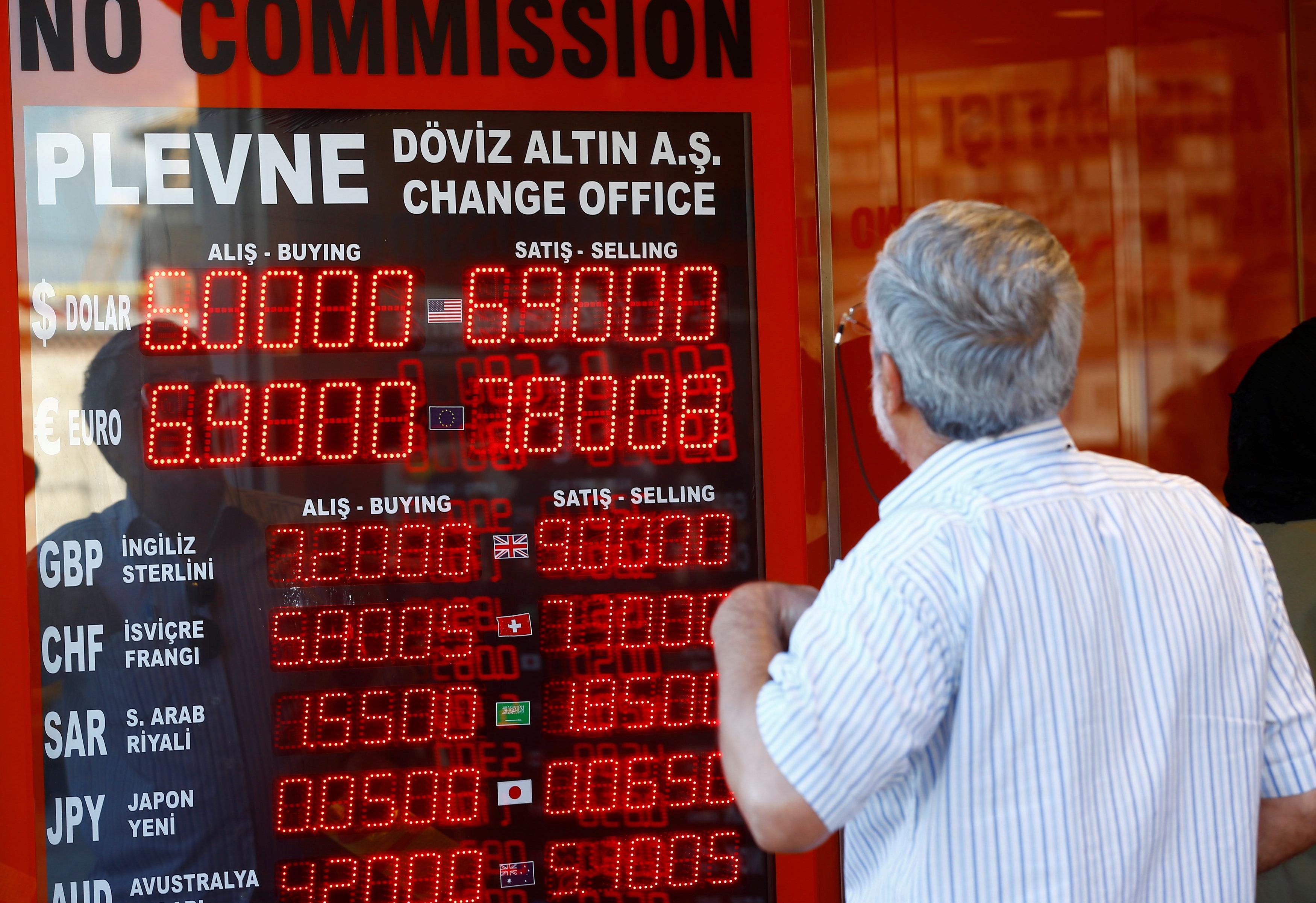 الليرة التركية تنخفض 1 % مقابل الدولار style=