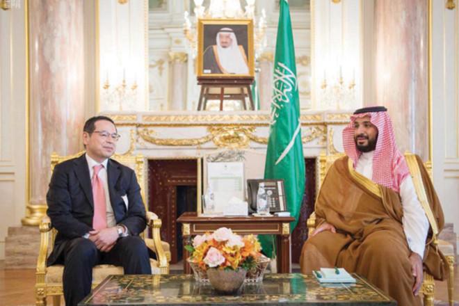 ولي ولي العهد يبحث الفرص الاستثمارية في المملكة مع مدير البورصة اليابانية
