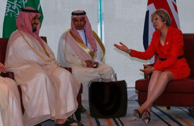 ولي ولي العهد يلتقي بوتين وكيري والرئيس الإندونيسي ورئيسة وزراء بريطانيا