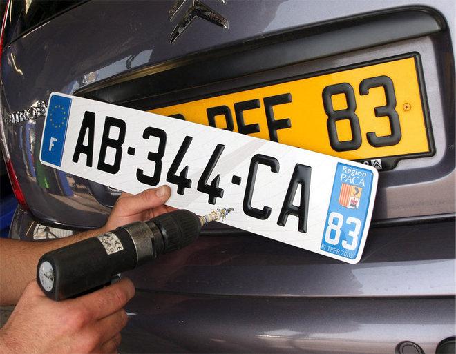 تم تعميد لوحات تسجيل جديدة للسيارات في فرنسا تتكون من سبعة رموز.