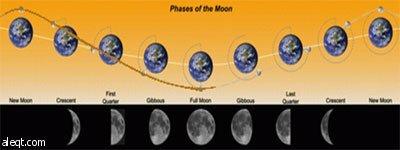 كيف يتكون الشهر القمري ؟