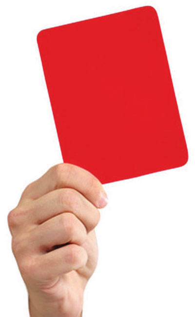 6 بطاقات حمراء تختفي | صحيفة الاقتصادية