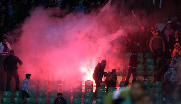 اصابة 24 رجل أمن في أعمال شغب عقب مباراة لكرة القدم بالمغرب