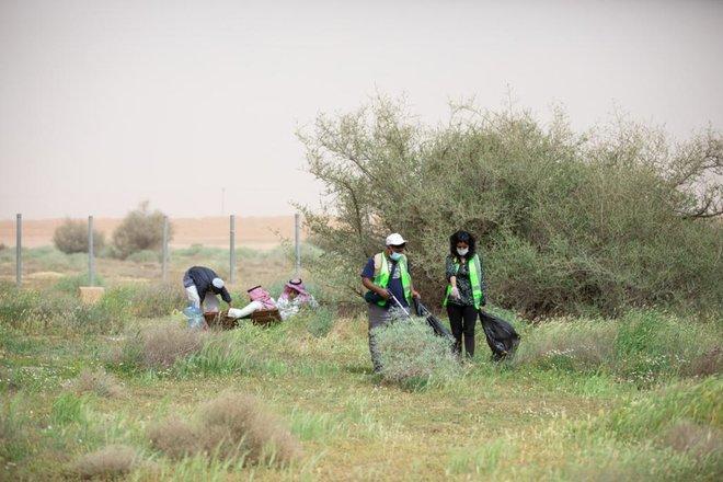 تلبية لمبادرة السعودية الخضراء .. محمية الملك عبد العزيزالملكية تزرع 100 ألف شتلة