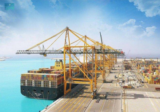 14 % ارتفاع حاويات المسافنة في الموانئ السعودية خلال مايو