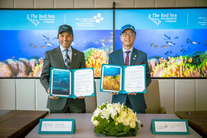 البحر الأحمر للتطوير توقع اتفاقية أبحاث رئيسية مع جامعة الملك عبدالله للعلوم والتقنية