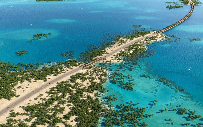 """""""البحر الأحمر"""" : تشييد جسر بطول 1.2 كم يربط جزيرة """"شريرة"""" بالبر"""