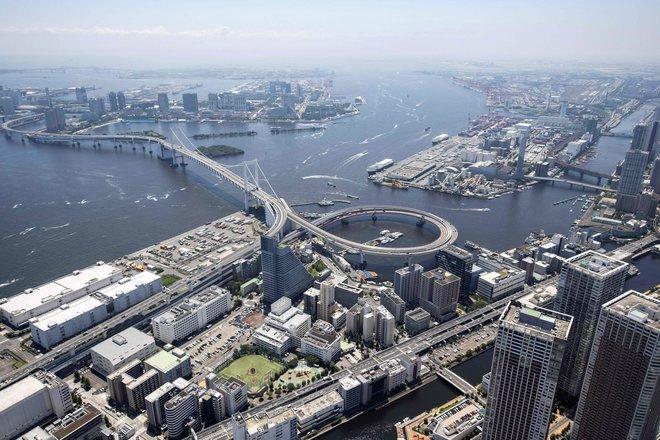 صورة جوية لمدينة طوكيو اليابانية حيث تستعد لاستضافة دورة الألعاب الأولمبية