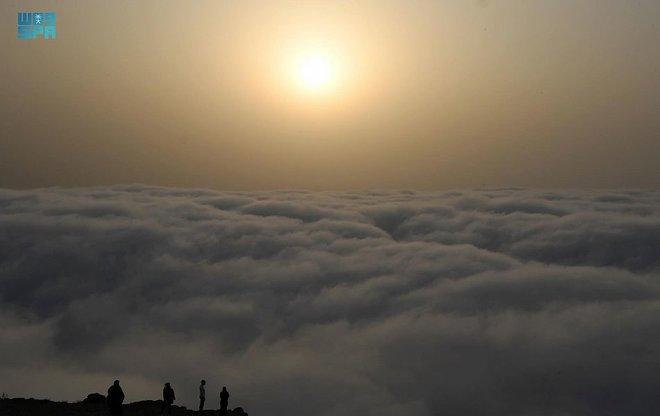 """""""السحب المنخفضة"""".. ظاهرة بصرية ترسم الجمال في صيف عسير"""