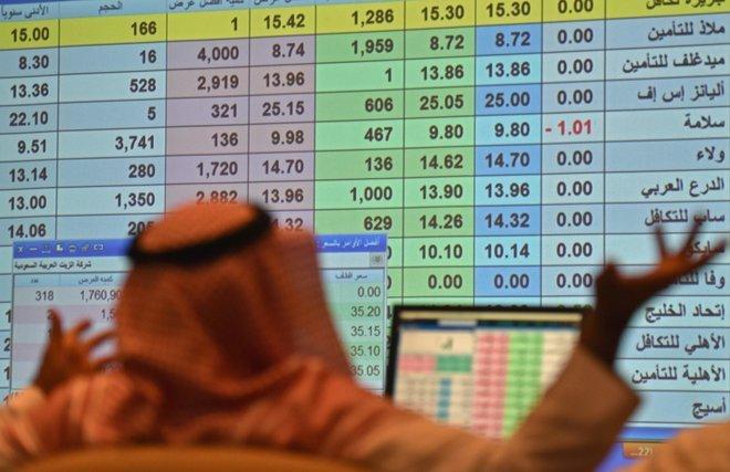 """الأسهم السعودية تتراجع بأكثر من 100 نقطة بضغط """"البنوك"""" و""""المواد الأساسية"""""""