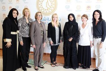 وفد زوجات أعضاء الكونجرس الأمريكي يعبر عن إعجابه بمهارات الفتاة السعودية وقدراتها