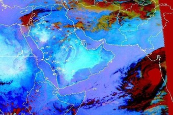 """""""الأرصاد"""": الحالة المدارية في بحر العرب لن تؤثر على أجواء السعودية"""