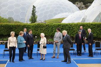 ملكة بريطانيا تستقبل زعماء مجموعة السبع