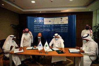 توقيع اتفاقيات مشروع محطة الجبيل لإنتاج المياه المستقل للمرحلة الثالثة