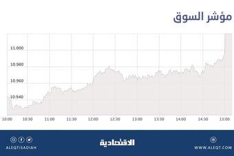 الأسهم السعودية تتجاوز حاجز 11 ألف نقطة .. المؤشر يقترب من أعلى مستوى منذ 2014