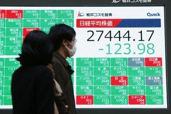 """الأسهم اليابانية تهبط بفعل القلق بشأن دلتا و""""تويوتا"""" تتراجع بعد إعلان الأرباح"""