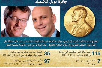 تطوير التحفيز العضوي يمنح ألماني وأمريكي جائزة نوبل للكيمياء 2021